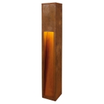 SLV RUSTY SLOT 80 Outdoor floor lamp, LED, 3000K, iron rusted, L/W/H 12/12/80 cm