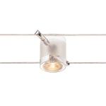 SLV COMET Seilleuchte für TENSEO Niedervolt-Seilsystem, QR-C51, chrom, teilsatiniertes Glas