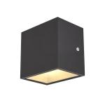 SLV SITRA CUBE WL LED Outdoor Wand- und Deckenaufbauleuchte, anthrazit, IP44, 3000K, 10W