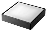 mlightLED-Deckenleuchte RIKA square IP65,15W,230V,3000K,120°,1000lm,25000h,A+,nicht dimmbar,Farbe,anthrazit