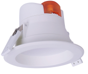 mlight LED-Downlight IP44, 7W, 230V, 3000K, 90°, 520lm, 30000h, A+, nicht dimmbar, Farbe, weiss