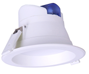 mlight LED-Downlight IP44, 10W, 230V, 3000K, 90°, 760lm, 30000h, A+, nicht dimmbar, Farbe, weiss
