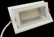 mlight LED-Shop Strahler rechteckig, 48W, 230V, 3000K, 80°, 4600lm, 30000h, A+, nicht dimmbar, Farbe, weiss