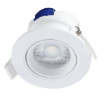 mlight LED-Einbaudownlight Melody, 7W, 230V, 3000K, 36°, 590lm, 30000h, A+, dimmbar, Farbe, weiss