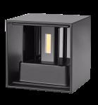 mlight LED-Außenwandleuchte CUBE , 6W, 230V, 3000K, 0-120°, 500lm, 50000h, A+, nicht dimmbar, Farbe, anthrazit