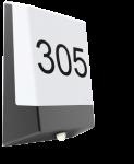 Mlight LED Hausnummernleuchte CARLOS dunkelgrau mit Tag-Nacht Sensor