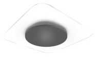 mlight LED-Wand-,  Deckenleuchte Jade  square, 18W, 230V, 3000K, 120°, 1700lm, 50000h, A+, nicht dimmbar, Farbe, Silber