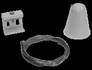 mlight 3 Phasen-Seilabhängung 2000 mm, Farbe, weiss