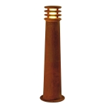 SLV RUSTY 70 outdoor floor stand, LED, 3000K, round, rusted steel, Ø/H 19/70 cm