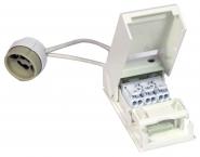 Megaman Lampenfassung GU10 mit 15 cm Kabel und Anschlussbox