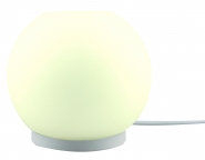 LM RGB/W table lamp spherical shape 8W-600lm/827 incl. remote control