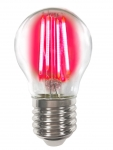 LM Deco LED Filament P45 4W-E27/Rot