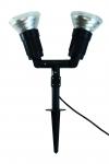 Megatron CAPPI IP54 schwarz 3m für LED PAR38-2xE27