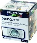 Megatron  DECOCLIC Einbauring rund 68mm - weiß + MM26642 dimmbar