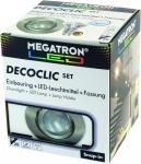 Megatron DECOCLIC Einbauring rund 68mm - eisen gebürstet + MM26642 dimmbar
