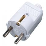 i-Light Schuko Stecker 2P+T 16A, max 1.500 Watt, weiß