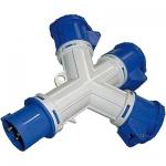 i-Light Adapter Stecker 2P+T 16A 6H _ 3x Sockel 2P+T 16A 6H