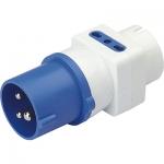 i-Light Adapter Stecker 2P+T 16A 6H _ 2x Sockel 2P+ T 10/16A + 1x Sockel SCHUKO 16A