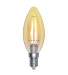 SkyLighting Filament LED Kerze gold E27 220V 4W 2200K