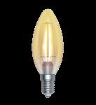 SkyLighting Filament LED Kerze gold E27 220V 4W 2200K