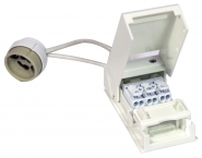 Megaman lamp socket GU10 with 15cm wire and junction box