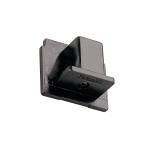 SLV ENDKAPPE für EUTRAC Hochvolt 3Phasen-Aufbauschiene, schwarz