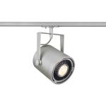 SLV EURO SPOT Spot für Hochvolt-Stromschiene 1Phasen, QPAR111, silbergrau, max. 75W, inkl. 1Phasen-Adapter