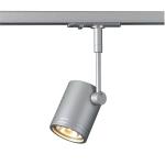 SLV BIMA 1 Spot für Hochvolt-Stromschiene 1Phasen, einflammig, QPAR51, silbergrau, max. 50W, inkl. 1Phasen-Adapter