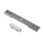 SLV Längsverbinder für 1 Phasen Stromschiene, Einbauversion weiß/nickel matt,