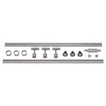 SLV 1 Phasen Hochvolt-Set 4, silbergrau, 2x 1m, inkl. 3x PURI und LED Leuchtmittel 4, 3W