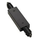 SLV Längsverbinder für 1Phasen Stromschiene, schwarz, mit Einspeisemöglichkeit