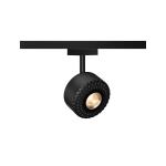SLV TOTHEE, Strahler für SLV D-TRACK 2 Phasen Stromschiene, LED, 3000K, schwarz, 15°, inkl. 2 Phasen Adapter