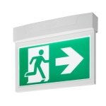 SLV P-LIGHT Emergency Exit signbig ceiling/wall, white