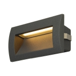 SLV DOWNUNDER OUT LED M Outdoor Wandeinbauleuchte, LED, 3000K, anthrazit