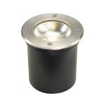 SLV Außen-Bodeneinbauleuchte ROCCI 125, LED, 3000K, IP67, rund, edelstahl 316, max. 6W