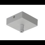 SLV Deckenrosette GLENOS, silber, 8,5x8,5x2,7cm, mit Zugentlastung