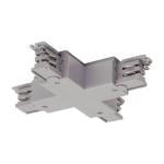 SLV X-Verbinder für S-TRACK 3 Phasen Stromschiene, silbergrau
