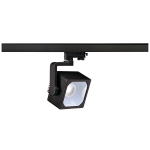 SLV EURO CUBE Spot für Hochvolt-Stromschiene 3Phasen, LED, 4000K, schwarz, 60°, inkl. 3Phasen-Adapter