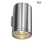 SLV ROX WALL OUT Up/Down, QPAR11, Outdoor Wandleuchte, Alu gebürstet, max. 2x50W, IP44