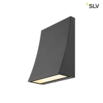 SLV DELWA WIDE LED Outdoor Wandleuchte, 3000K, 100°, schwarz, IP44
