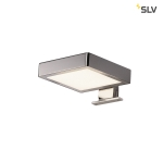 SLV DORISA LED Spiegelleuchte, quadartisch, Chrom, 4000K, IP44