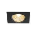 SLV NEW TRIA 68 LED DL SQUARE SET,matt black, 9W, 38°, 3000K,incl. driver