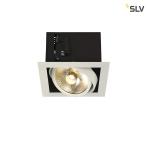 SLV KADUX 1 ES111 Downlight, eckig , mattweiß, max. 75W