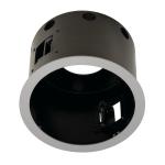 SLV AIXLIGHT PRO 1 FLAT FRAME ROUND Einbaurahmen, silbergrau / schwarz