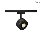 SLV TOTHEE LED Strahler für 2 Phasen Stromschiene, 3000K, schwarz, 50°, inkl. 2 Phasen Adapter
