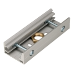 SLV EUTRAC joint connector for3-circuit track, silver-grey