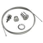 SLV EUTRAC rope suspension, chrome, 6.2m