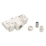 SLV EUTRAC 3 Phasen Stromschienenadapter, weiß inkl. Montagezubehör