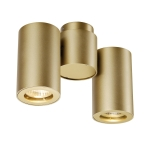SLV ENOLA_B SPOT double, Wand- und Deckenleuchte, Messing, GU10, max. 2x 50W