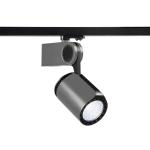 SLV DANCER LED Spot, silbergrau/schwarz, 4000K, inkl. 3 Phasen Adapter